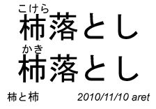て 漢字 似 柿 いる